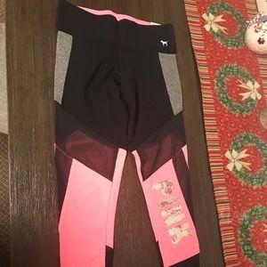 Pink Victoria Secret Leggings Bling nets nwt